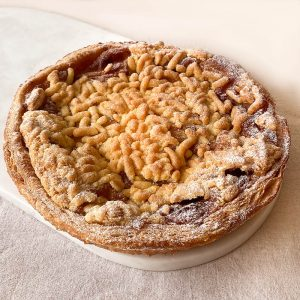 tarte crumble pomme cannelle